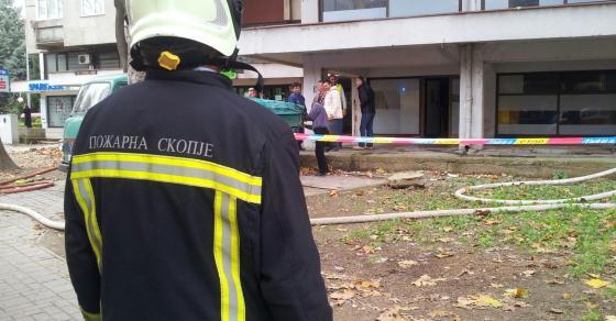 Пожар во зграда во Скопје
