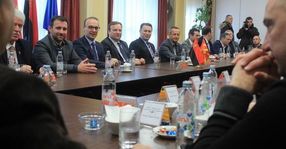 Започна средбата на Груевски со лидерите од коалицијата  За подобра Македонија