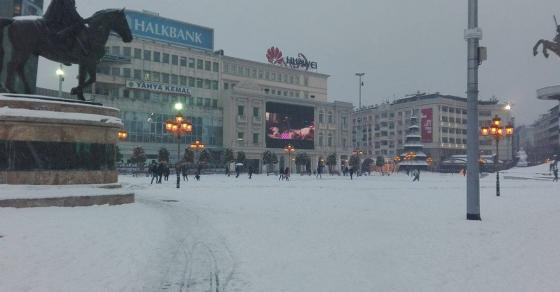 УХМР најави нови врнежи   нов снежен бран во Македонија