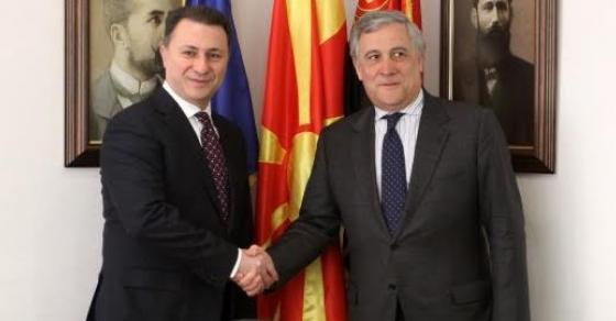 Груевски со честититка до новиот претседател на ЕП   верен пријател на Македонија