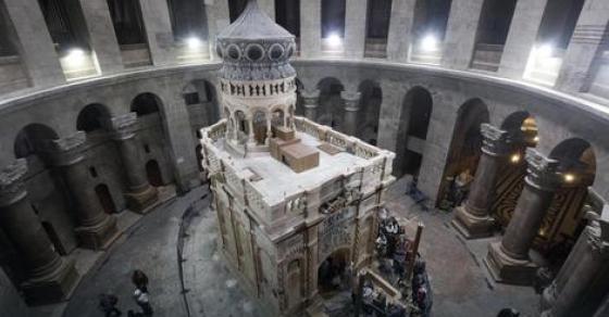 Конечно блесна  Гробот на Исус реставриран и еве како изгледа