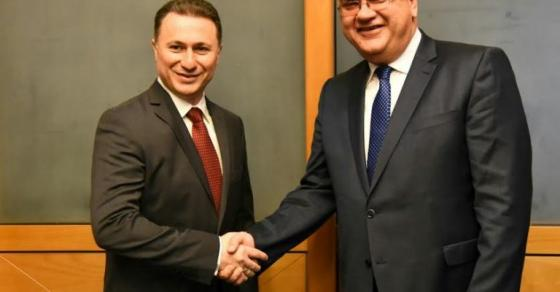 Груевски оствари средба со Младен Иваниќ