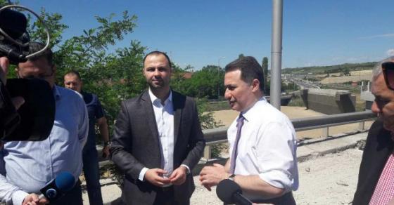 Груевски изврши увид на градежните работи на патниот правец Скопје   Куманово