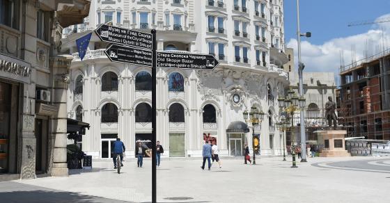 ГАЛЕРИЈА  Поставени туристички патоказни табли во Скопје