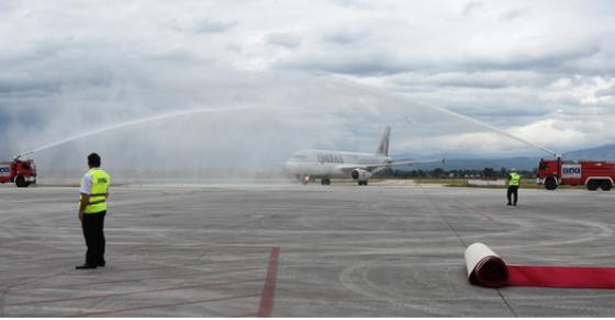 Реализиран првиот лет на  Катар ервејс  од Доха до Скопје