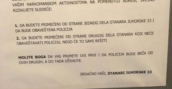 Почитувани господа наркомани    порака во една белградска зграда станала хит на интернет
