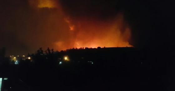 Голем пожар над скопско Кондово   граѓаните во паника