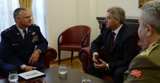 Иванов оствари средба со генерал мајор Стивен Креј