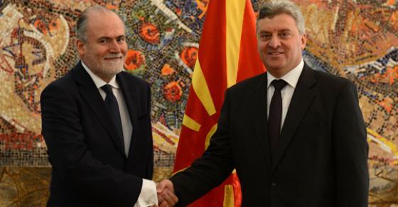 Иванов ги прими акредитивите од новите амбасадори на Шпанија  Чешка и Кувајт