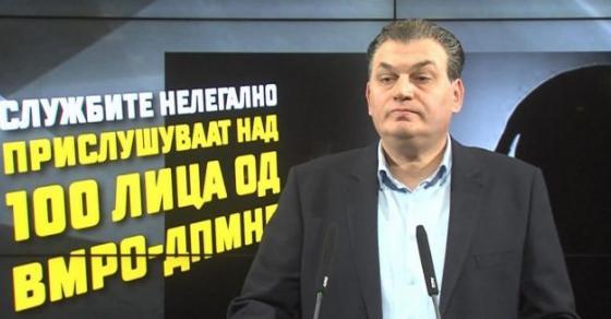 Андонов  МВР призна дека го прислушкува целиот врв на ВМРО ДПМНЕ