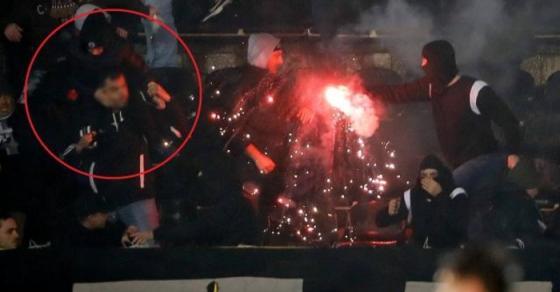 Во тепачката на белградското дерби повредени дваесетина лица   татко со синот на раменици бегал од хулиганите