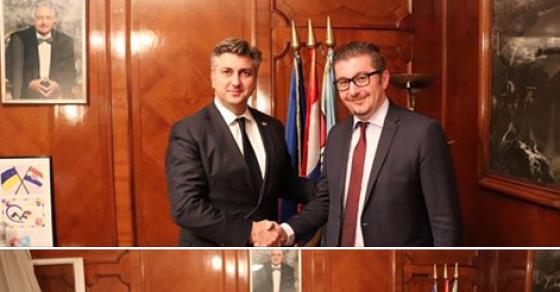 Мицкоски на средба со Пленковиќ  Македонија има капацитети  а ВМРО ДПМНЕ енергија за големи работи за нашите граѓани