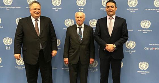 Почна третата рунда од обновените преговори за името   на маса Димитров  Коѕијас и Нимиц