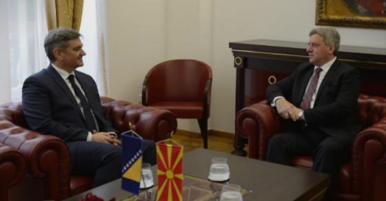Претседателот Иванов се сретна со претседавачот на Советот на министри на БиХ  Денис Звиздиќ