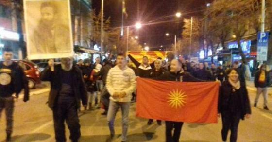 15 прилепчани во станица за протестите против двојзаичноста